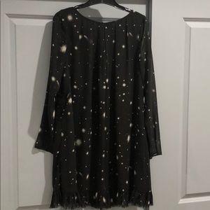 Victoria's Secret Black Starburst Babydoll Dress